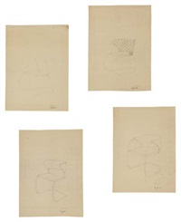 chair studies for thonet (set of 4) by lilly reich