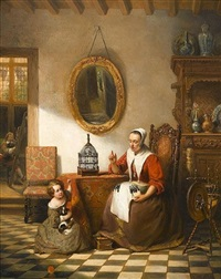 the lace maker by johann cornelius mertz