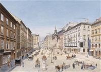 der hohe markt in wien by raimund von (baron) stillfried-rathenitz