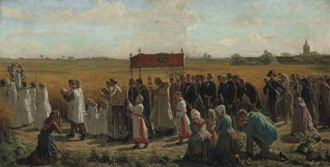 the blessing of the wheat by jules breton
