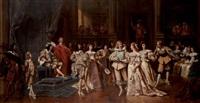 le bal à la cour de louis xiii by ladislaus bakalowicz