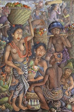 market in bali by anak agung gde raka puja