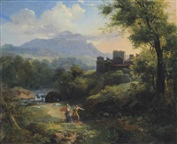arcadian landscape by jean charles joseph remond