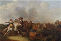 scènes de cavalerie (2 works) by dirck bleker
