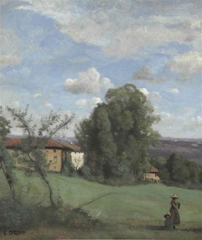 une ferme de dardagny by jean baptiste camille corot