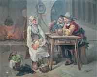 scène galante à la cuisine by george appert
