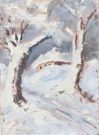 ohne titel (winterliche szene) by savu petra dan