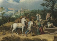 rebecca at the well by girolamo da treviso the younger