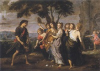 le triomphe de david by victor wolfvoet the younger
