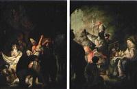 anbetung der könige (+ anbetung der hirten; pair) by johann evangelist holzer
