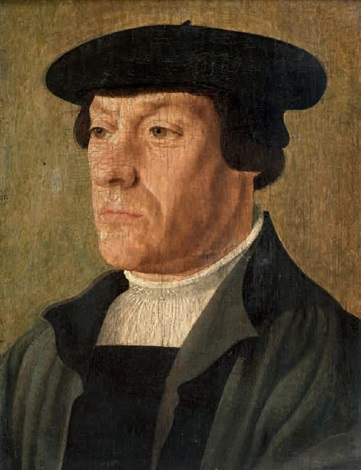 portrait dhomme au béret by jan van scorel