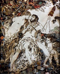 pictures of junk: hercules and omphale (detail), after francois lemoyne chromogenic print by vik muniz