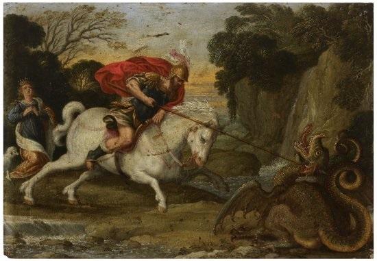 saint georges combattant le dragon by johann hans konig
