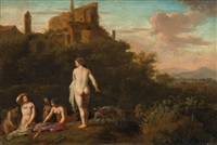 diana and her nymphs bathing by cornelis van poelenburgh