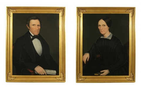hon sen john henry hubbard and julia hubbard of litchfield county 2 works by ammi phillips