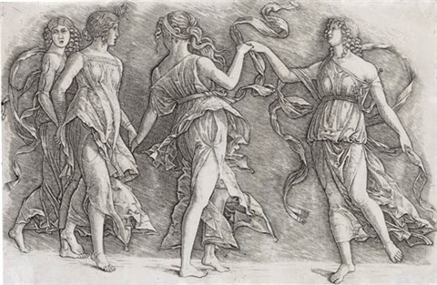 four women dancing by andrea mantegna