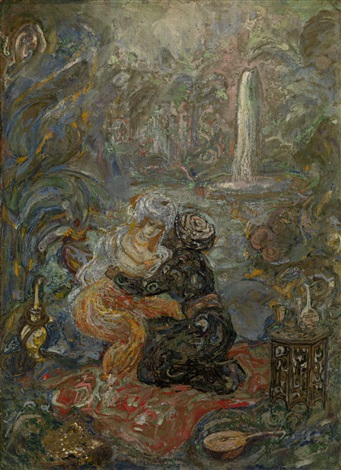 oriental scene by vasili milioti