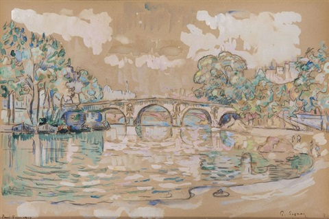 le pont marie by paul signac