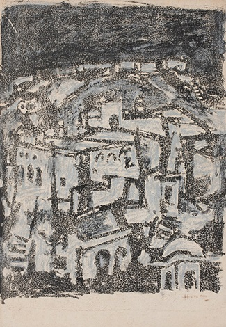 amber fort by maqbool fida husain