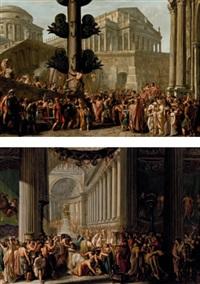 trionfo di un cesare (+ sacrificio a giove; 2 works) by luigi ademollo