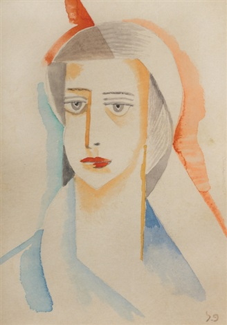 portrait of a woman by pinchas litvinovsky