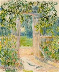 la porte du jardin, vetheuil by claude monet