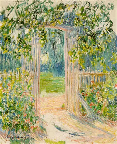 La Porte Du Jardin Vetheuil By Claude Monet On Artnet