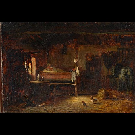 untitled interior scene by jules dupré