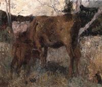 vaca y ternero by fernando fader