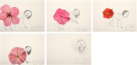 untitled: flower farts (5 works) by kiki smith