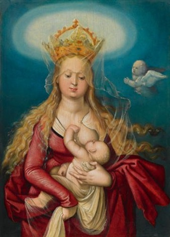 he virgin as queen of heaven suckling the infant christ by hans baldung grien