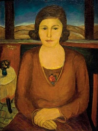 portrait of the artist's mother by joseph kossonogi
