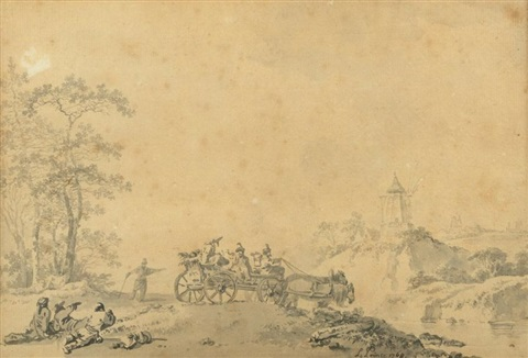 paysage russe by jean baptiste le prince