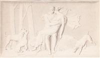 céphale et procris (?) by alexandre-évariste fragonard