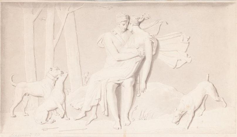 céphale et procris  by alexandre évariste fragonard