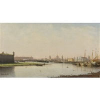 view of st. petersburg by petr petrovich vereshchagin