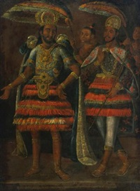 portrait of moctezuma y cuahutemoc by anonymous-mexican (17)