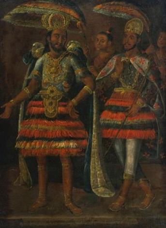 portrait of moctezuma y cuahutemoc by anonymous mexican 17