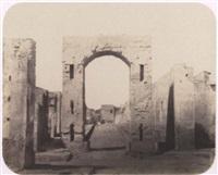 pompeï, arc de triomphe et rue de mercure by g(abriel) de rumine