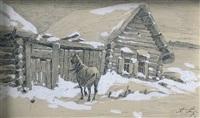 la campagne enneigée by aleksei fedorovich afanas'ev