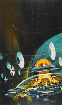 self-contained space city by paul alexander