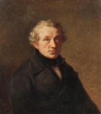 portrait eines herren by wilhelm carl juncker