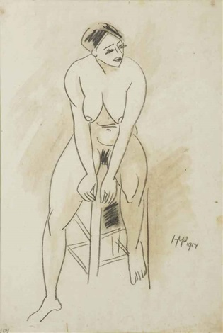 seated nude by max pechstein
