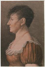 portrait de femme coiffée en porc-épic (grand trait pour physionotrace) by edme quenedey