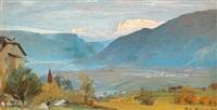 alpeglød. bjerglandskab i tyrol by peder severin krøyer