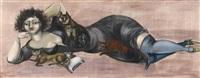 dichterin mit katze, oder: porträt nina adler by bele bachem