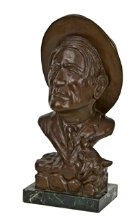 bust of charlie russell by earle erik heikka