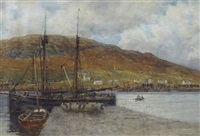 a busy harbour by robert weir allan