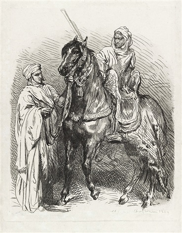 arabe montant en selle by théodore chassériau