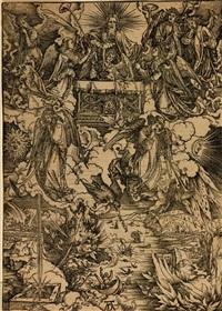 sept anges avec des trompettes, pl. de l'apocalypse-1497 by albrecht dürer